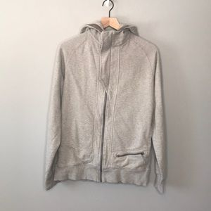 Lululemon gray zip up sweatshirt size large